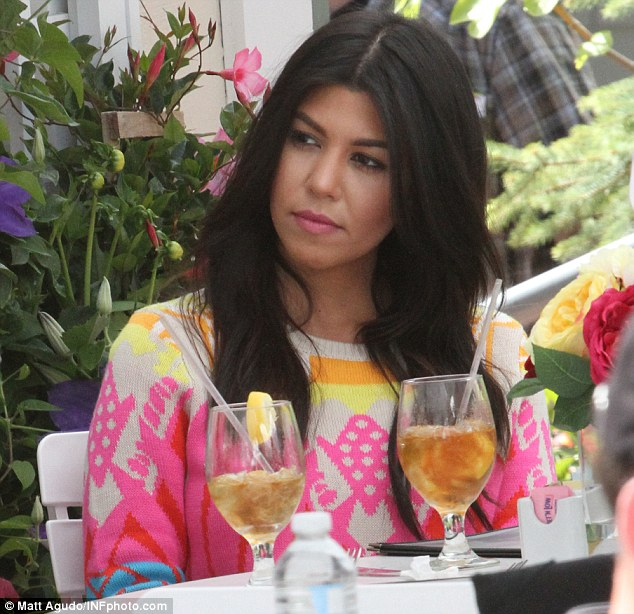 Dining in The Hamptons: Kourtney pictured sitting at a restaurant last week while filming her whow