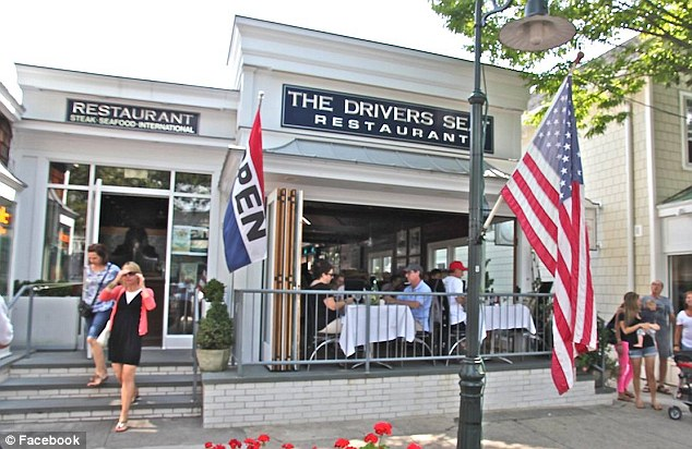 The restaurant: Kourtney was accused of not tipping at The Driver's Seat in Southhampton
