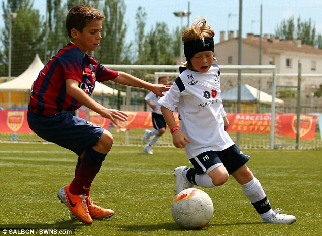 Talent: Fletcher Hubbard (right) in action during the final in Spain