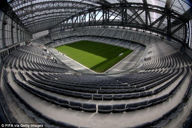 Prepared: The World Cup Organising Committee has not yet commented on whether the stadium, which has a retractable roof, will be ready for its opening game