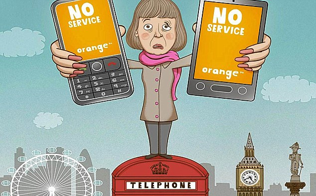 Nightmare: Money Mail reader had a terrible time trying to get through to Orange