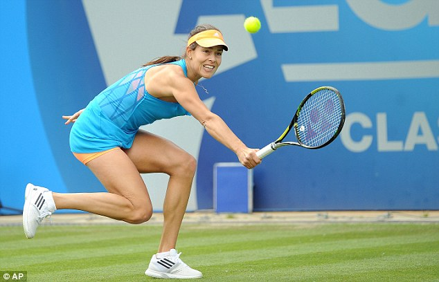 Stretch too far? The Serbian is hoping for a good run at Wimbledon in the third grand slam of the year