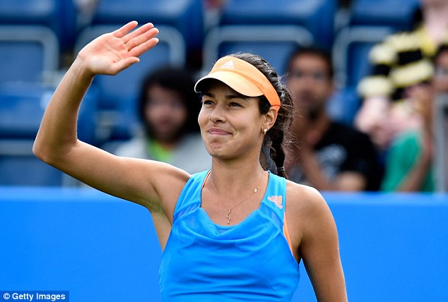 Safe passage: Ana Ivanovic cruised through her first-round match against Mona Barthel at the AEGON Classic