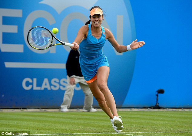 Sweet timing: The Serbian was in good form on the grass courts in Birmingham