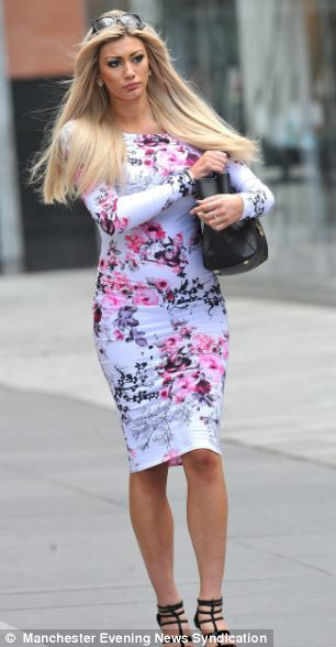 Sophie Pearl Dalzell, 20, (pictured leaving Manchester Magistrates' Court) was found guilty of assaulting the officers in Cumbria last year