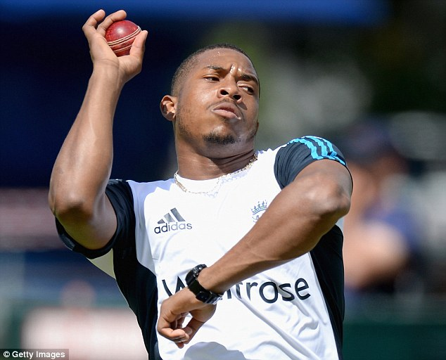 Steam in: Chris Jordan is another set to debut in England's attack after impressing in limited overs formats
