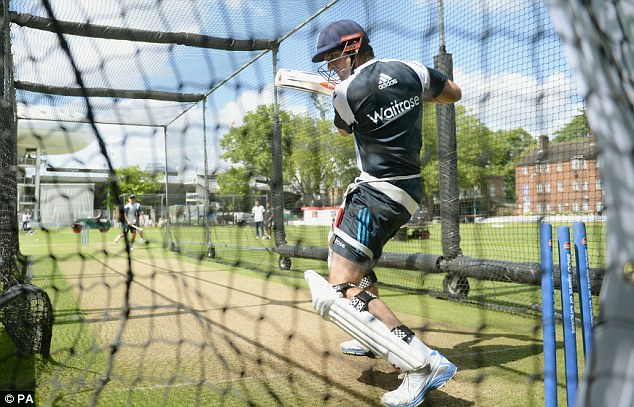 The heat is on: Cook prepares in the nets at Lord's where a new era under his captaincy begins on Thursday