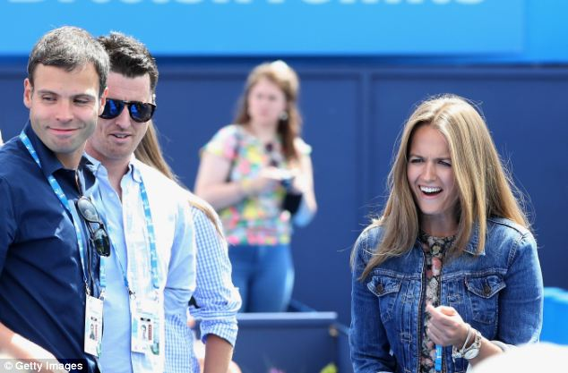 All smiles: Andy Murray's girlfriend Kim Sears appeared happy with Andy Murray's new choice of coach as she arrived to watch his first match since working with Amelie Mauresmo