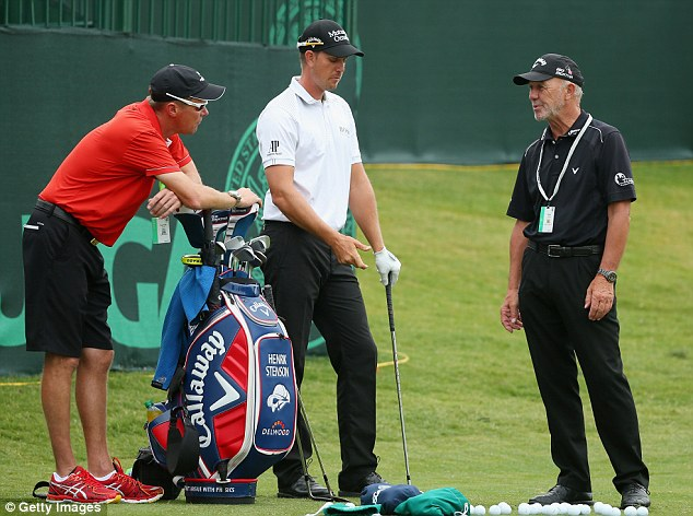 Big hitter: Henrik Stenson (centre), who is available at 28-1, will be looking to use his distance off the tee