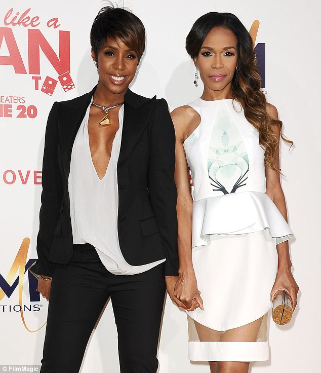 Reunited: Kelly was joined by fellow Destiny's Child member Michelle Williams at the Think Like A Man Too Hollywood premiere on Monday