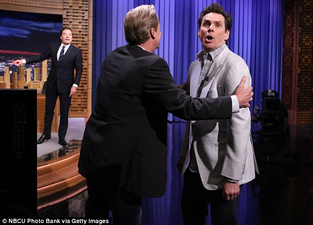 Same old schtick: The funnyman pretended he was about to take audience participation to a new level