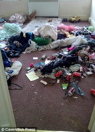 Landlord Sean Feeney was greeted with a scene of chaos after he rented out his home in Blackpool to a mother and her three children