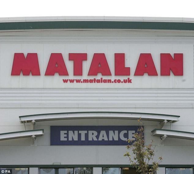 Matalan, where Mr Lambert worked, say 'substantial damage' was caused to company property (file picture)