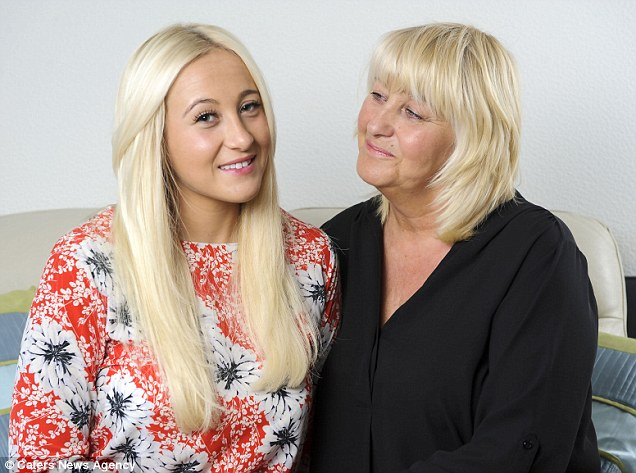 Sophie Cooper, left, pictured with her mother Angela, right, desperately wanted to feel beautiful on her 21st birthday