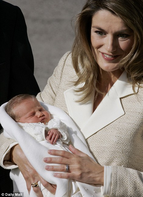 Yummy mummy: Princess Letizia with her eldest daughter, Infanta Leonor