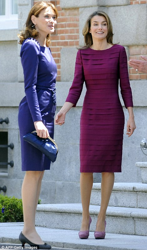 Battle of the first ladies: Princess Letizia manages to upstage former model Carla Bruni