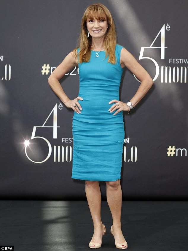 About change: On Tuesday, Jane opted for a tight-fitting knee-length blue outfit for the Young and the Restless photocall at the Monte Carlo TV Festival