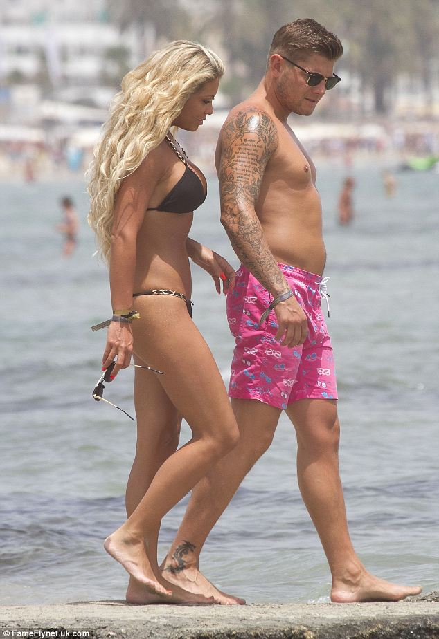 Model looks: Bianca showed off her enviable figure in a skimpy chain-strap bikini