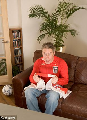 Football mad: Many people are going to spend their leisure time plonked on the sofa watching matches, rather than getting up to any of their usual activities