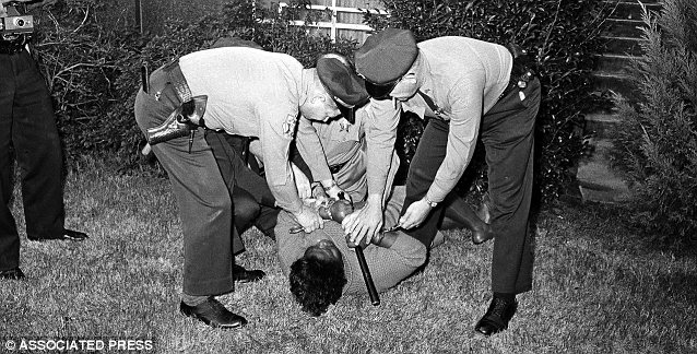 Freedom fighter: Annie Lee Cooper fought with officers after they tried to stop her from standing in line to vote in 1965