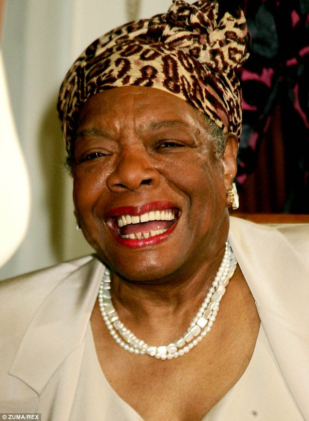 Blessing: Oprah's close friend Maya Angelou gave the project her blessing before she died