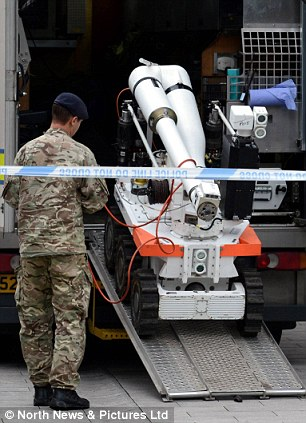A bomb disposal team was called to the first incident on Tuesday and a controlled explosion was carried out