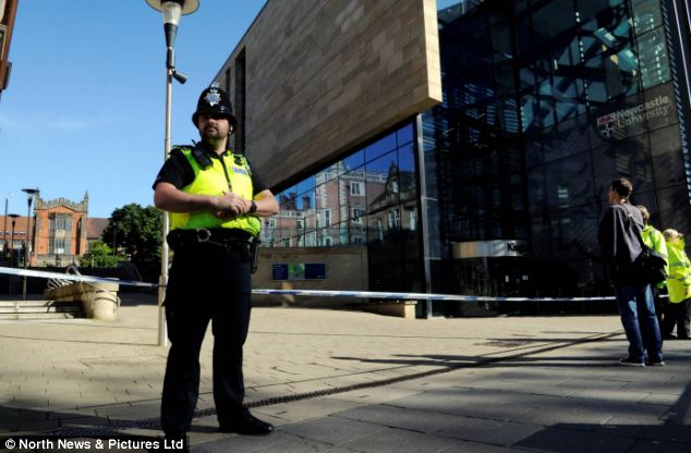 The building has temporarily been evacuated as a precaution. Police said the evacuation was linked to the incident on Tuesday, after which two 18-year-old Russian students studying at the university were arrested