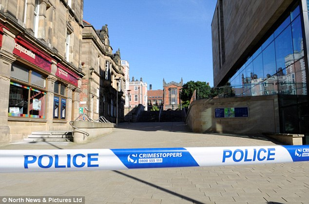 Police said the 'ongoing activity' is part of the ongoing investigation which saw a controlled explosion carried out at the university