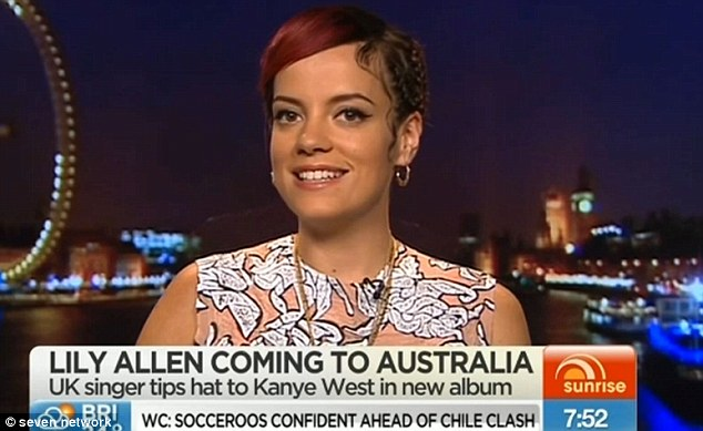 'I can't wait!' Lily Allen has revealed her excitement at returning to Australia for the first time in five years, after appearing on Sunrise via live cross on Thursday morning