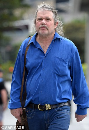 Steve Courtrney, who gave evidence in the trial of Gerard Baden-Clay, leaves the Supreme Court in Brisbane on Thursday