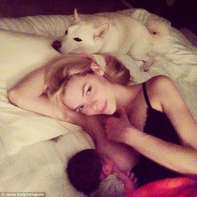 'I feel like now that I'm a mother, I realise that there's a huge schism out there': New mom Jaime King opened up about her decision to share this intimate photo of her breastfeeding eight-month-old son James on Sunday, saying, 'Why should we hide it?'