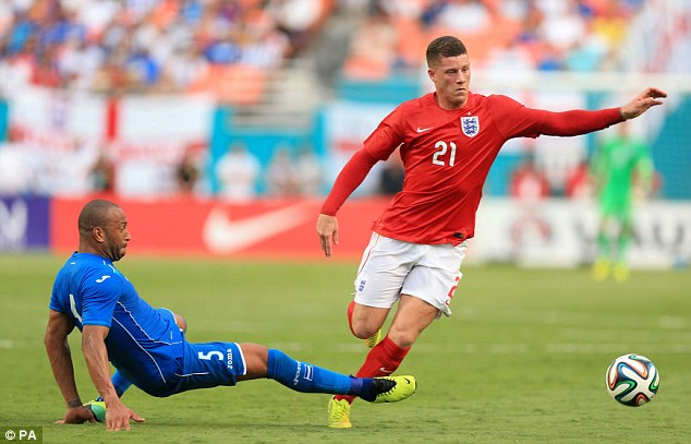 Fearless: There have been calls to give Ross Barkley a run when England tackle Italy on Saturday night