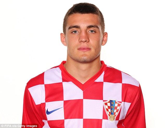 Ignored: Mateo Kovacic will line up alongside Luka Modric and Ivan Rakitic for Croatia against Brazil