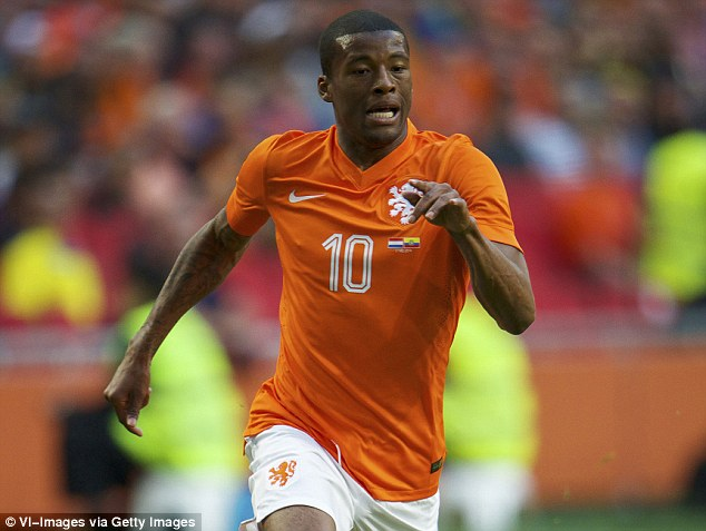 Hard work: Blessed as a teenager, Georginio Wijnaldum has finally lived up to his early promise for the Netherlands