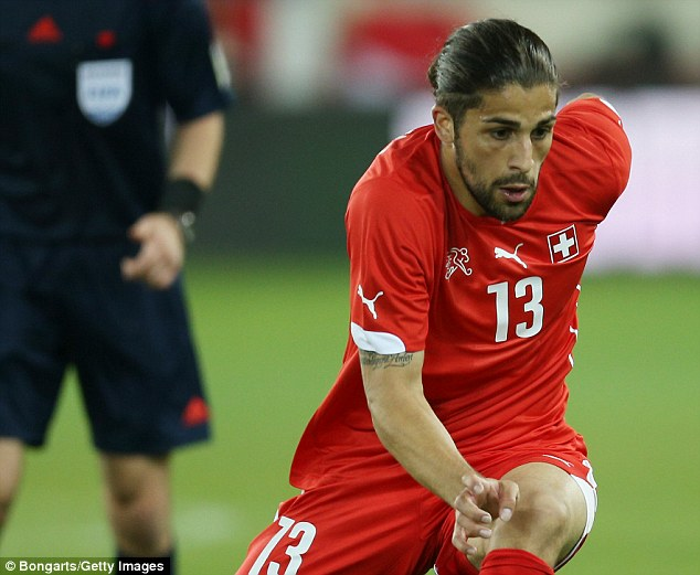Solid: Ricardo Rodriguez has impressed at left-back for Switzerland and Wolfsburg despite his young age