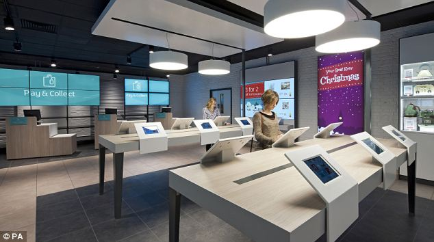 Shop overhaul: Argos has been operating new-style stores where tablet computers replace its trademark laminated catalogues