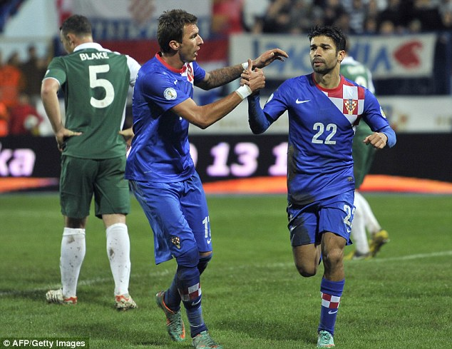 Prolific: Eduardo has scored 29 goals in 63 internationals for Croatia and could be the difference tonight