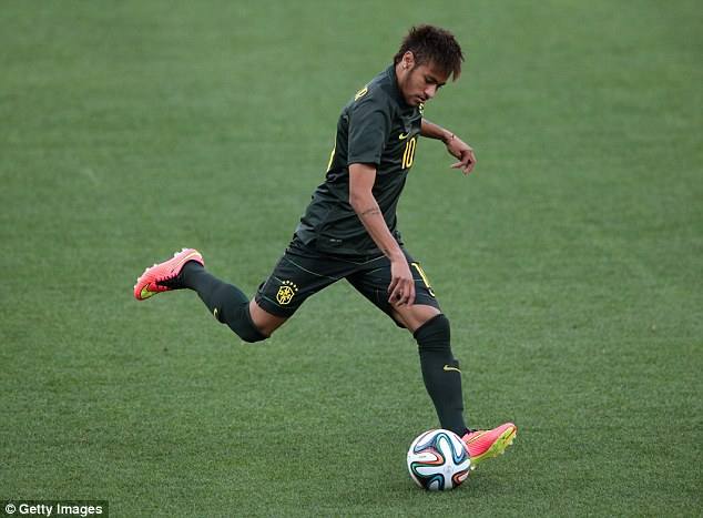 Hype: Neymar has been billed as the poster boy of the Brazil World Cup and he will need to deliver