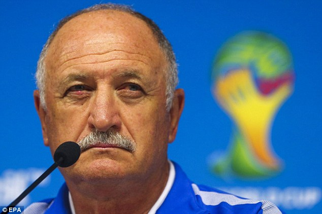 Expectations: Luis Felipe Scolari managed Brazil to glory in 2002 and hopes to do so again in 2014