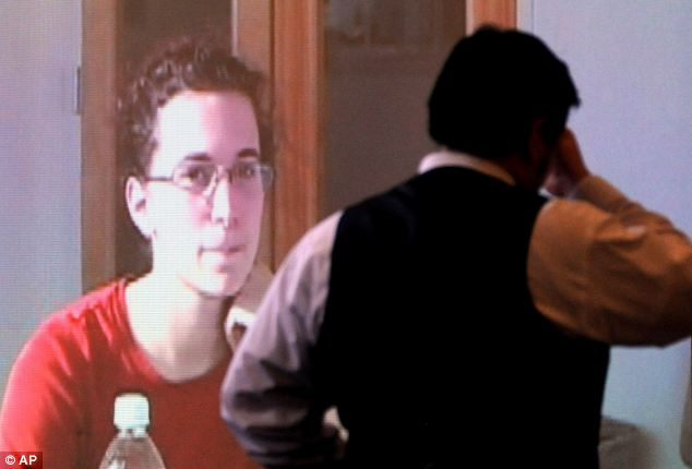 Twist: Kathryn McDonough can be seen speaking on a 2012 video, claiming she was involved in bondage play with Elizabeth Marriott before she died. Her ex-boyfriend, Seth Mazzaglia, is seen front