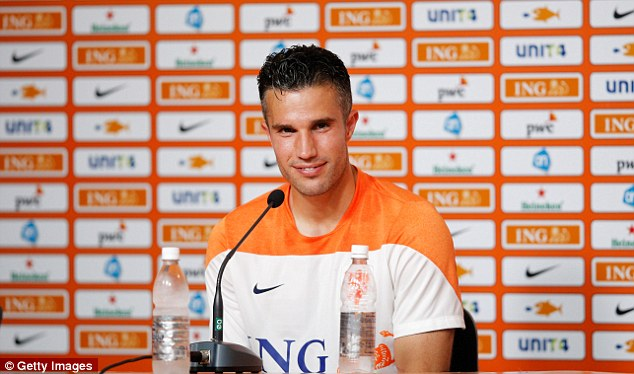 All smiles: Spain should beware according to van Persie who says he feels it will be a good tournament