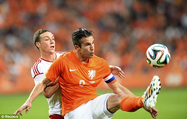 Ready: Robin van Persie (right) insists he is fit and can fire Holland far at the World Cup in Brazil