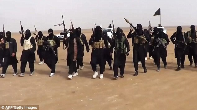 Conflict: ISIS (pictured) took control of the Iraqi city of Tikrit and surrounded the Baiji refinery