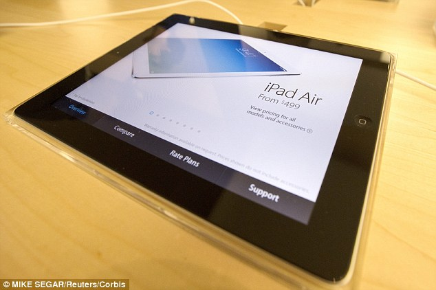 Apple's iPad (Air pictured) currently dominates the tablet market, but Samsung will be hoping to change that. The Galaxy Tab S comes in two sizes, 10.5-inch and 8.4-inch. It will also be available in titanium bronze or dazzling white. The device lets users multi-task by surfing the web, making calls and more simultaneously