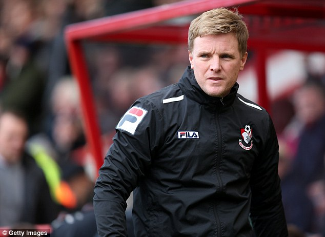 On the hunt: Bournemouth manager Eddie Howe is looking for new players to bolster his squad