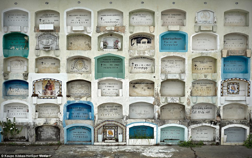 Lifelong project: A graveyard in Iquitos, Peru. He first photo of graveyard 15 years ago and considers this as a 'lifelong project that will continue to grow'