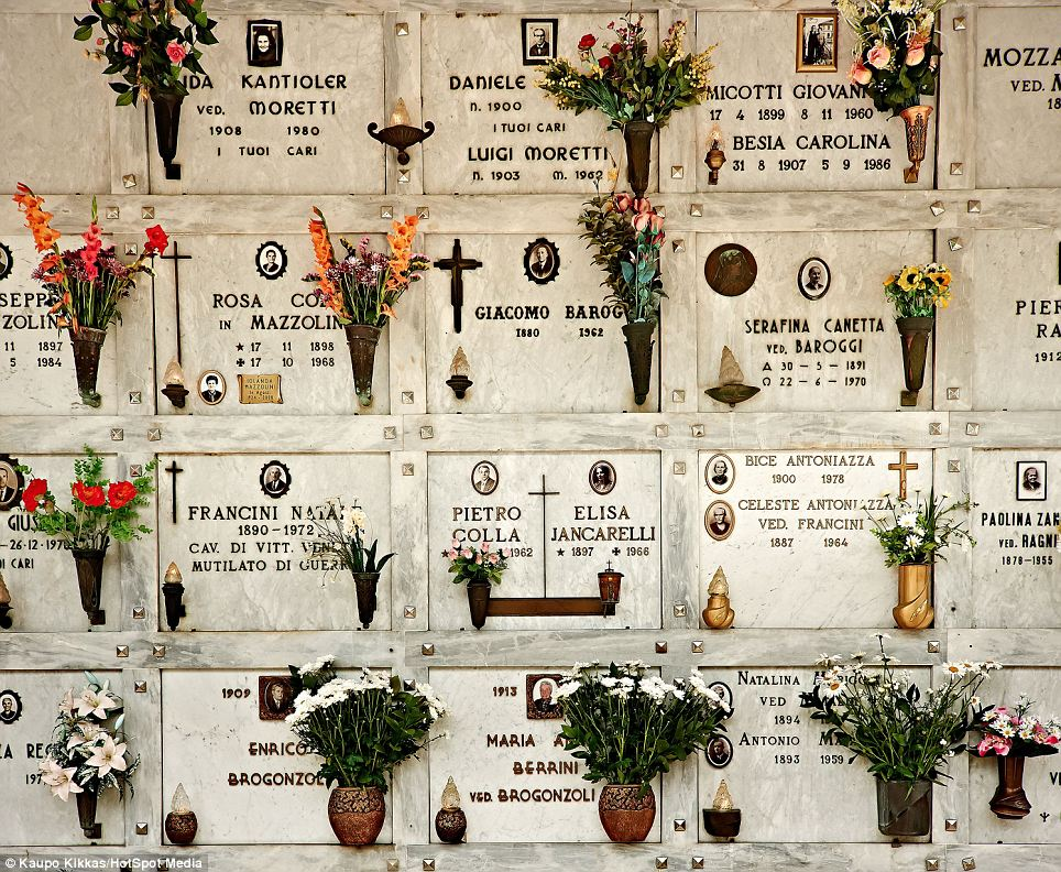 Beautiful: A graveyard in Recoleta, Buenos Aires. Argentina. He says people are often 'surprised at how aesthetically beautiful graveyards can be'