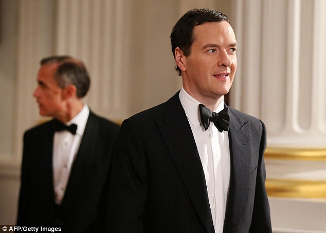 Good angel on his shoulder: George Osborne is relying on the Bank of England to rein him in