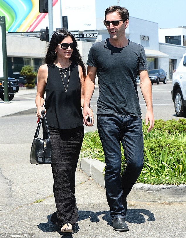 Romance: Courteney is currently enjoying a romance with rocker Johnny McDaid; the couple was pictured shopping in West Hollywood on Wednesday