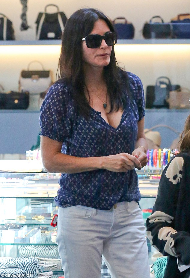 Posh present: Courteney let Coco pick out what she wanted at the Marc Jacobs designer store